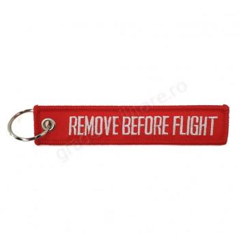 "Breloc ""Remove before flight"""