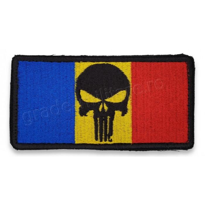 Ecuson Drapel Punisher RO | Emblema Drapel Punisher RO