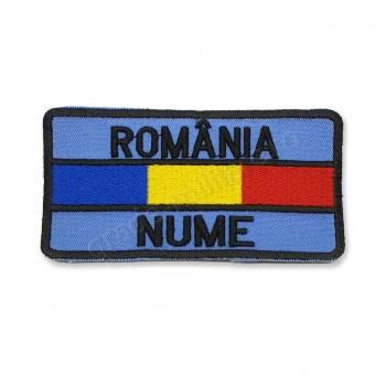Ecuson nominal cu ROMANIA si drapel Forte Aeriene