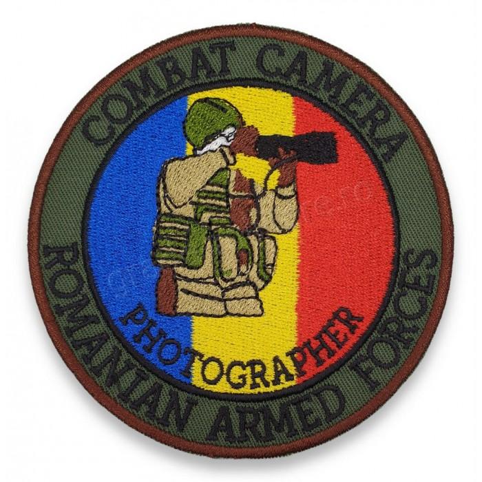 Emblema Combat Camera | Emblema Fotograf Militar