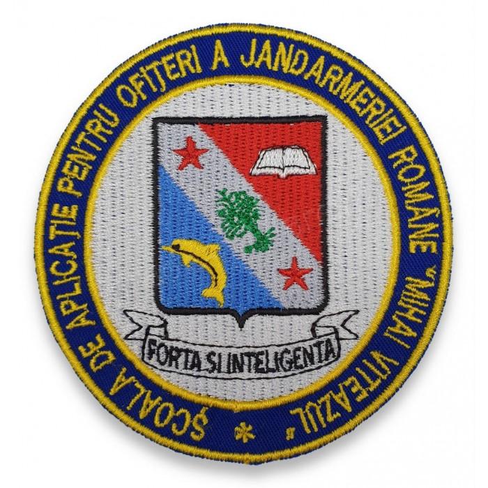 """Emblema Scoala de Aplicatie pentru Ofiteri a Jandarmeriei Romane """"Mihai Viteazul"""""""