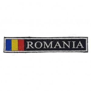 Ecuson Romania cu Drapel fir metalic