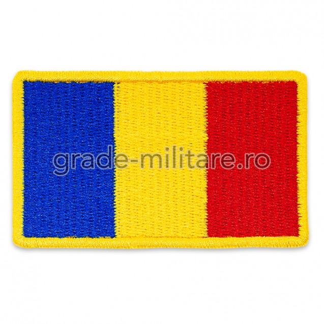 Drapel Romania cu contur galben 75x45