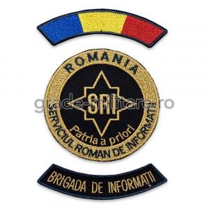 Emblema Serviciul Roman de Informatii SRI Ofiteri Brigada de Informatii