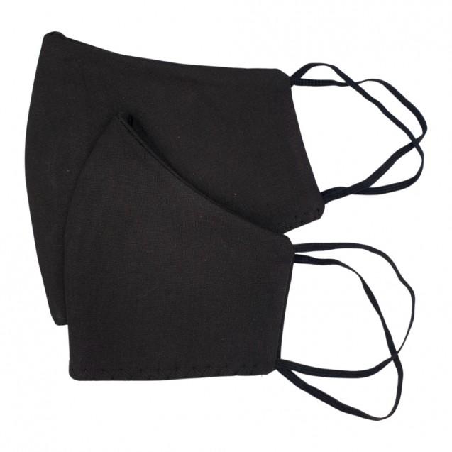 Masca de protectie din bumbac dublu strat, reutilizabila