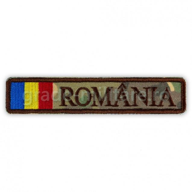 Ecuson Romania cu Drapel combat forte terestre