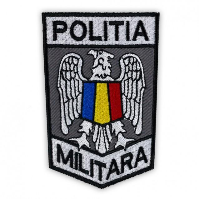 Ecuson maneca Politia Militara Gri 10,5x7cm