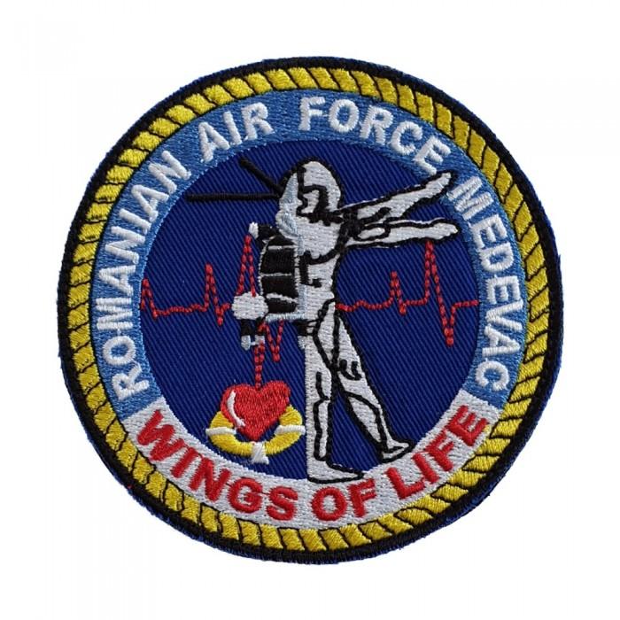 Emblema MED EVAC WINGS OF LIFE Fortele Aeriene Romane