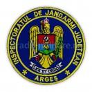 Emblema maneca inspectoratul judetean de jandarmi Arges