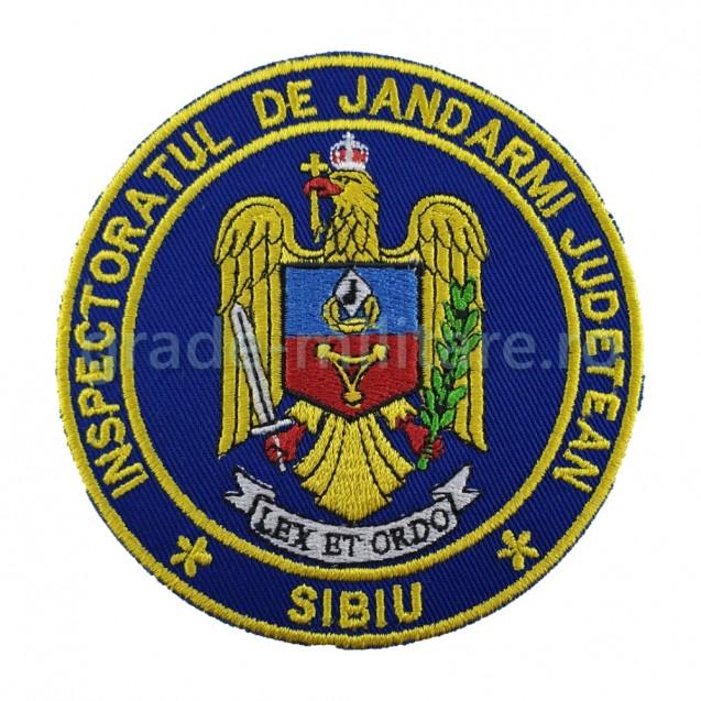 Emblema maneca inspectoratul judetean de jandarmi SIBIU