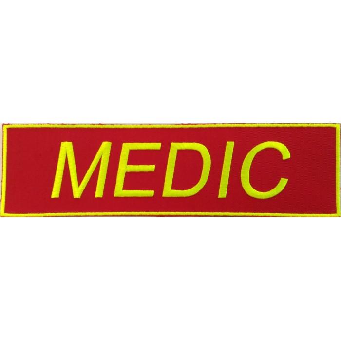Emblema MEDIC-SMURD spate-vernil-neon