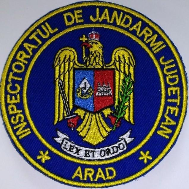 Embleme brodate maneca Inspectoratul de jandarmi judetean Arad ,jandarmi, IJJ ARAD
